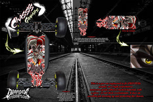 LOSI 8IGHT-T 4.0 CHASSIS WRAP KIT 'LUCKY' HOP UP DECAL SET FITS OEM PARTS RED - Darkside Studio Arts LLC.