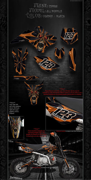 "COBRA GRAPHICS WRAP ALL MODELS 2002-16 ""THE DEMONS WITHIN"" CX50 CX65 KING JR SR - Darkside Studio Arts LLC."