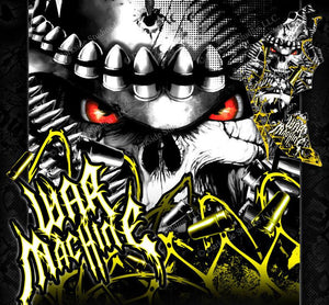 "CAN-AM RENEGADE GRAPHICS WRAP DECALS ""WAR MACHINE"" STICKER FOR BODY PARTS YELLOW - Darkside Studio Arts LLC."