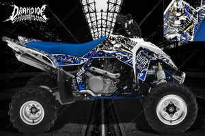 "SUZUKI LTR450 LTR450R GRAPHICS WRAP DECAL KIT ""WAR MACHINE"" FITS OEM PARTS BLUE - Darkside Studio Arts LLC."