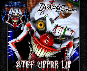 KAWASAKI JETSKI ULTRA SERIES 'STIFF UPPER LIP' HOOD WRAP SKIN DECAL SET BLUE - Darkside Studio Arts LLC.