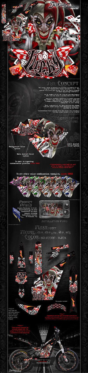 "OSET 20.0 16.0 12.5 2011-18 GRAPHICS WRAP ""LUCKY"" DECALS FOR OEM PARTS STICKERS - Darkside Studio Arts LLC."