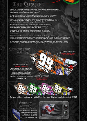 """TICKET TO RIDE"" GRAPHIC WRAP DECALS FITS KTM 1998-2006 SX SXF 250 300 450 525 - Darkside Studio Arts LLC."