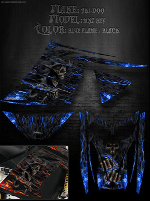 "SKI-DOO 2003-2007 MXZ RENEGADE REV GRAPHICS KIT ""HELL RIDE"" M-XZ GSX FLAMES - Darkside Studio Arts LLC."