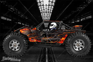 "AXIAL YETI MONSTER BUGGY XL DECALS GRAPHICS ""HELL RIDE"" FITS OEM BODY PARTS 1/8 - Darkside Studio Arts LLC."