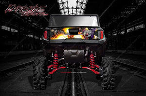 "POLARIS GENERAL ""PYRO"" GRAPHICS WRAP DECAL KIT FOR TAILGATE ACCESSORY - Darkside Studio Arts LLC."