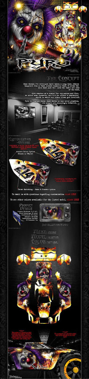 "ARRMA KRATON GRAPHICS WRAP DECALS ""PYRO"" HOP UP SKIN KIT FOR OEM BODY PARTS - Darkside Studio Arts LLC."
