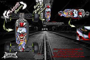LOSI 8IGHT-T 3.0 2.0 'TICKET TO RIDE' CHASSIS WRAP HOP UP DECALS FITS TLR241009 - Darkside Studio Arts LLC.