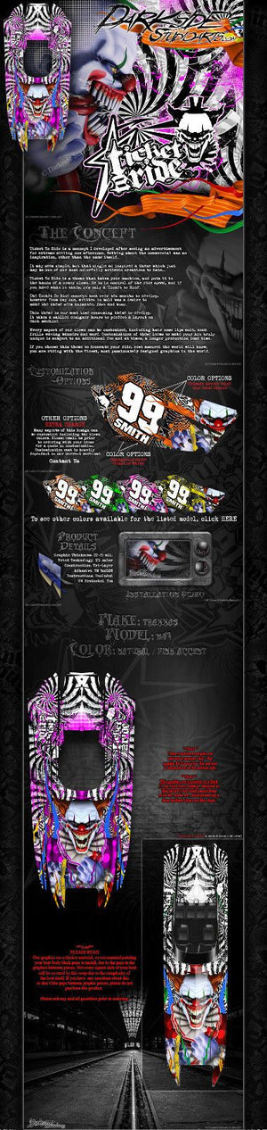 "TRAXXAS DCB M41 CATAMARAN WRAP GRAPHICS ""TICKET TO RIDE"" FITS OEM HULL DECAL SET - Darkside Studio Arts LLC."
