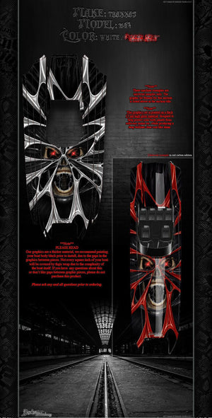 "TRAXXAS DCB M41 CATAMARAN GRAPHICS ""THE DEMONS WITHIN"" FITS OEM HULL DECALS - Darkside Studio Arts LLC."