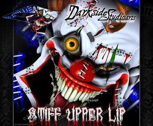 "YAMAHA 2010-2018 YZF250 & YZF450 ""STIFF UPPER LIP"" GRAPHICS CLOWN DECAL WRAP - Darkside Studio Arts LLC."