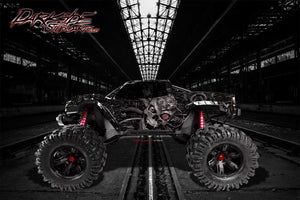 "TRAXXAS X-MAXX GRAPHICS WRAP DECALS ""MACHINEHEAD"" FITS PROLINE FORD RAPTOR, BRUTE BASH & STOCK BODY - Darkside Studio Arts LLC."