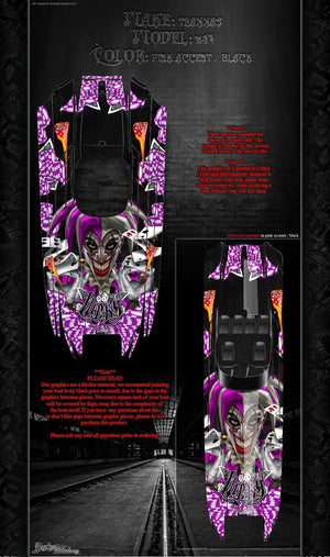 "TRAXXAS DCB M41 CATAMARAN WRAP GRAPHICS ""LUCKY"" FITS OEM HULL DECAL KIT PINK - Darkside Studio Arts LLC."