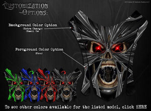 "YAMAHA APEX 11-15 SNOWMOBILE GRAPHICS WRAP ""THE DEMONS WITHIN"" CARBON EDITION - Darkside Studio Arts LLC."