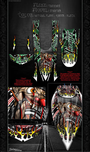 "TRAXXAS SPARTAN BOAT WRAP GRAPHICS ""THROTTLE JUNKIE"" FITS OEM HULL DECAL KIT - Darkside Studio Arts LLC."