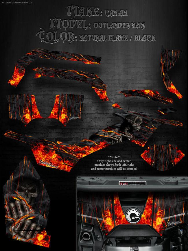 "CAN-AM OUTLANDER MAX 2012-2015 /""HELL RIDE/"" FOR OEM PARTS DECALS WRAP KIT GRAPHIC"