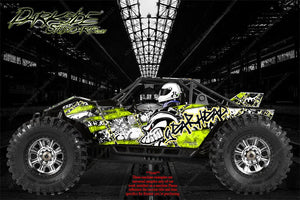 "AXIAL YETI MONSTER BUGGY XL WRAP GRAPHICS ""GEAR HEAD"" FITS OEM BODY PARTS 1/8 - Darkside Studio Arts LLC."