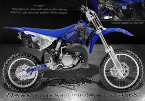 "YAMAHA 2002-2013 YZ85 2-STROKE DECALS GRAPHICS ""THE OUTLAW"" FOR BLUE PLASTICS - Darkside Studio Arts LLC."