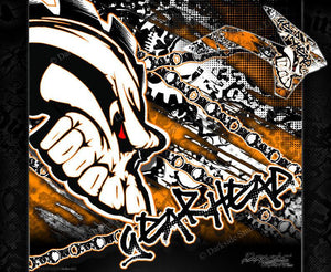"""GEAR HEAD"" GRAPHICS WRAP FITS KTM 2012-2018 EXC XCW 250 300 450 525 - Darkside Studio Arts LLC."