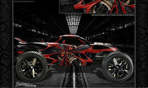 "TRAXXAS RUSTLER RC GRAPHICS WRAP DECAL KIT FOR OEM BODY ""THE DEMONS WITHIN"" - Darkside Studio Arts LLC."