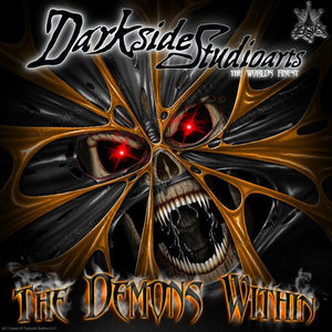 "GRAPHIC KIT ""THE DEMONS WITHIN"" FITS KTM 2007-2011 SX SXF EXC XC 125 250 300 450 - Darkside Studio Arts LLC."