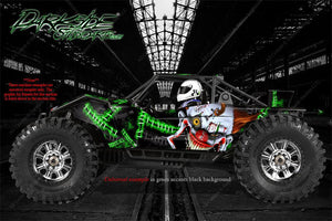 "AXIAL YETI MONSTER BUGGY XL GRAPHICS WRAP ""STIFF UPPER LIP"" FITS OEM PARTS - Darkside Studio Arts LLC."
