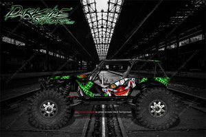 "AXIAL WRAITH DECALS WRAP SKIN ""STIFF UPPER LIP"" FITS OEM BODY PANELS - Darkside Studio Arts LLC."