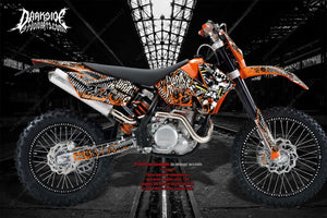 """WAR MACHINE"" GRAPHICS DECALS FITS SX & SXF KTM 2007-2010 SX 250SXF 450SXF 125 - Darkside Studio Arts LLC."