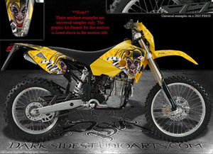 "HUSABERG DECALS 2001-2005 FE650 FE400 ""THE JESTERS GRIN"" GRAPHICS FS650 FS400 - Darkside Studio Arts LLC."