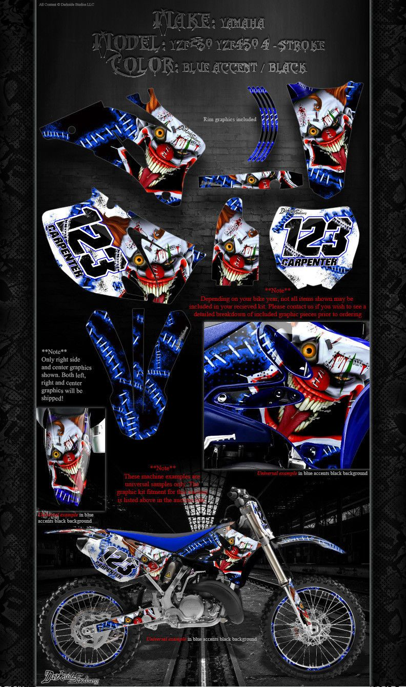 YAMAHA 1998-2009 YZF250 YZF450 DECAL WRAP