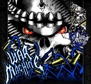 "YAMAHA 2009-2013 FITS YFZ450X / YFZ450R GRAPHICS WRAP DECAL KIT ""WAR MACHINE"" - Darkside Studio Arts LLC."
