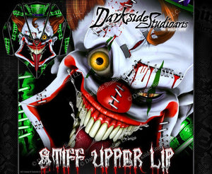 KAWASAKI JETSKI ULTRA SERIES 'STIFF UPPER LIP' HOOD WRAP SKIN DECAL GRAPHICS KIT - Darkside Studio Arts LLC.