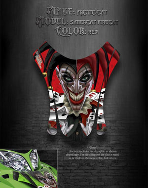 "ARCTIC CAT 03-06 04 F7 RED HOOD WRAP GRAPHICS FIRECAT ""THE JESTERS GRIN"" F5 F6 - Darkside Studio Arts LLC."