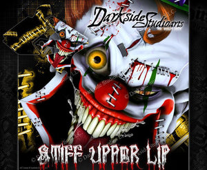 "SUZUKI 2000-2016 DRZ400 ""STIFF UPPER LIP"" GRAPHIC DECAL WRAP - Darkside Studio Arts LLC."