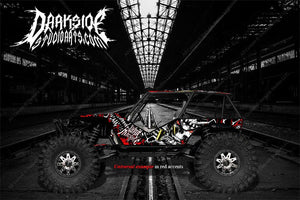 "AXIAL WRAITH ROCK RACER WRAP GRAPHICS ""WAR MACHINE"" HOP UP DECAL SET - Darkside Studio Arts LLC."