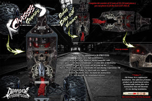 LOSI LST 3XL-E 'THE OUTLAW' CHASSIS WRAP DECAL KIT HOP UP SKID PLATE - Darkside Studio Arts LLC.