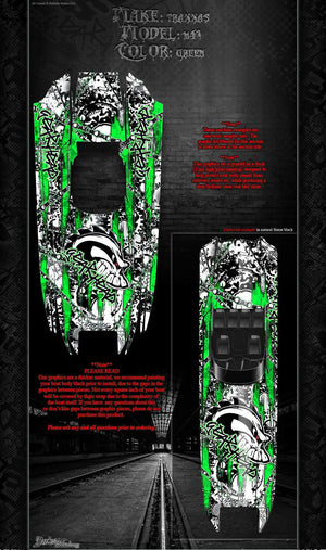 "TRAXXAS DCB M41 CATAMARAN WRAP GRAPHICS ""GEAR HEAD"" FITS OEM HULL GREEN - Darkside Studio Arts LLC."