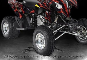 "POLARIS PREDATOR ""THE DEMONS WITHIN"" GRAPHICS KIT FOR OEM PLASTICS PARTS DECALS - Darkside Studio Arts LLC."