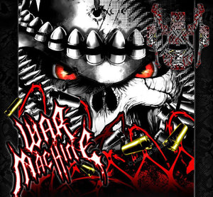"TRAXXAS SLASH 4X4 GRAPHICS WRAP ""WAR MACHINE"" HOP UP DECALS FOR OEM BODY PARTS - Darkside Studio Arts LLC."