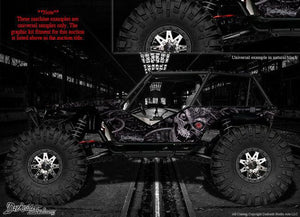 "AXIAL WRAITH ROCK RACER WRAP GRAPHICS DECALS ""MACHINEHEAD"" FITS OEM BODY 1/10 - Darkside Studio Arts LLC."
