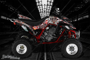"YAMAHA RAPTOR 660 GRAPHICS KIT ""LUCKY"" DECALS WRAP SET FOR OEM PARTS & PLASTICS - Darkside Studio Arts LLC."
