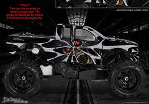 "REDCAT RAMPAGE TRUCK WRAP GRAPHIC DECALS ""THE DEMONS WITHIN"" FITS OEM BODY PARTS - Darkside Studio Arts LLC."