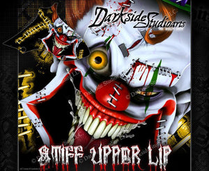 "SUZUKI 2002-2016 JR50 JR80 GRAPHICS WRAP ""STIFF UPPER LIP"" CLOWN DECALS - Darkside Studio Arts LLC."