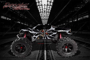 "TRAXXAS X-MAXX GRAPHICS WRAP DECALS ""THE DEMONS WITHIN"" FITS PROLINE FORD RAPTOR, BRUTE BASH & STOCK BODY - Darkside Studio Arts LLC."