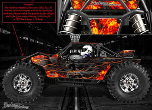 "AXIAL EXO DECALS WRAP GRAPHICS KIT ""HELL RIDE"" FITS OEM BODY PANEL PARTS 1/10 - Darkside Studio Arts LLC."