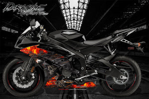 "YAMAHA R1 R3 R6 2008-2018 ""HELL RIDE"" GRAPHICS WRAP FOR FAIRING & SHROUDS ONLY - Darkside Studio Arts LLC."
