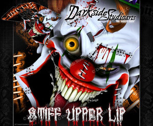 """STIFF UPPER LIP"" CLOWN GRAPHIC DECALS FITS KTM 2007-2010 SX SXF 250 300 450 525 - Darkside Studio Arts LLC."