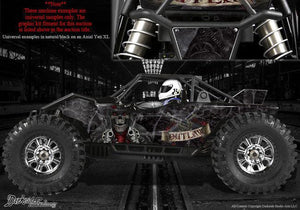 "AXIAL YETI MONSTER BUGGY XL WRAP GRAPHICS ""THE OUTLAW"" FITS OEM BODY PARTS 1/8 - Darkside Studio Arts LLC."