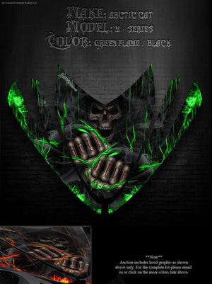 "ARCTIC CAT M-SERIES M8 M7 DECALS 2006-11 GRAPHICS WRAP ""HELL RIDE"" CROSSFIRE - Darkside Studio Arts LLC."
