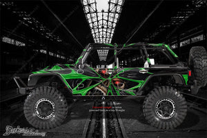 "AXIAL SCX10 JEEP WRANGLER GRAPHICS WRAP ""THE DEMONS WITHIN"" FITS OEM BODY PARTS - Darkside Studio Arts LLC."